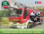 Venerdì 4 Dicembre - Diretta FacebookLegge di bilancio 2021 - Rinnovo Contratto Nazionale VVF