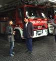 Intervista di La7 a Pompeo Mannone al Comando VV.F. di Roma